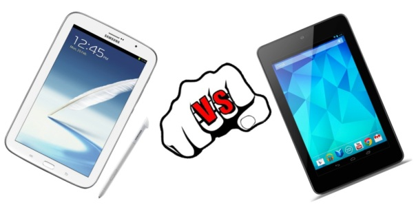 Samsung Galaxy Note 8.0 vs. Google Nexus 7