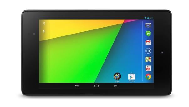 Nexus 7 (2013) frontal en horizontal