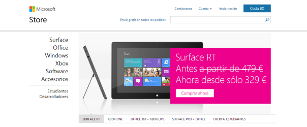 Surface RT rebaja su precio