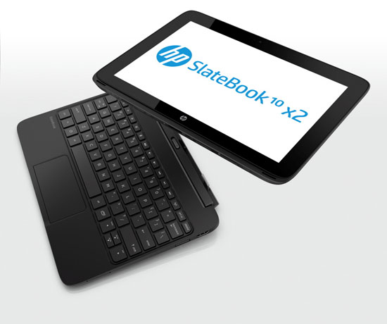 HP Slatebook x2 diagonal superior