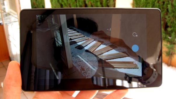 Nexus 7 (2013), interfaz de la cámara