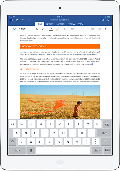 Word en el iPad
